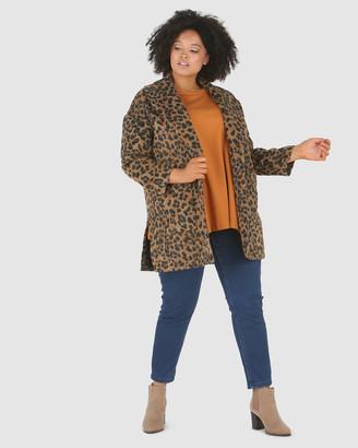 Advocado Plus Juliana High Split Coat
