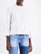 Ulla Johnson Grace cotton and linen-blend top
