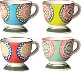 OKA Florya Espresso Mugs, Set of 4 - Multi