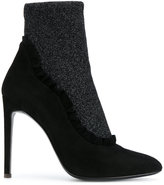 Giuseppe Zanotti Design ruffled lurex sock booties