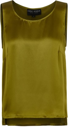 Lindsay Nicholas New York Shell In Chartreuse