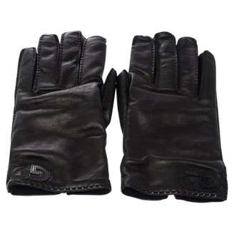 Gucci Black Leather Gloves