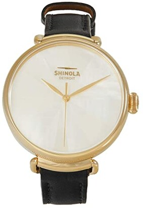 Shinola Detroit 38 mm Canfield 3H Watch (White Mother-of-Pearl) Watches