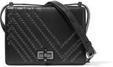 Diane von Furstenberg 440 Gallery Les Eyelet-embellished Leather Shoulder Bag - Black