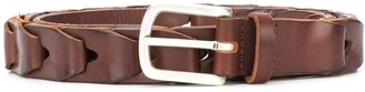 Orciani Woven Leather Belt