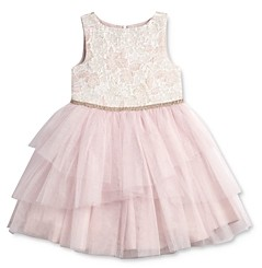 Pippa & Julie Girls' Brocade-Bodice Tutu Dress - Little Kid, Big Kid