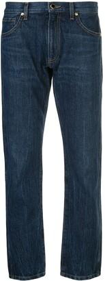 KHAITE Mid Rise Straight Jeans