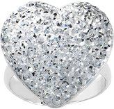 Body Candy Clear Sparkler Heart Adjustable Ring