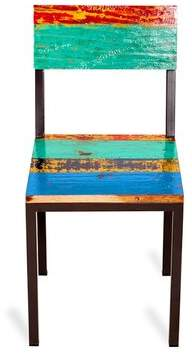 Eco Chic EcoChic Lifestyles Gangway Solid Wood Side Chair in Black EcoChic Lifestyles