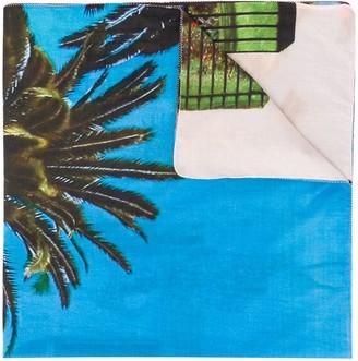 Tara Matthews x Faustine Point Murtoli Ajaccio Palms sarong skirt