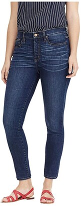 J.Crew 9 High-Rise Toothpick Tencel Lyocell Jeans in Point Lake Wash (Deep Indigo) Women's Jeans