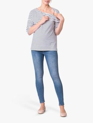 Séraphine Seraphine Stripe Maternity and Nursing Top, Blue/White