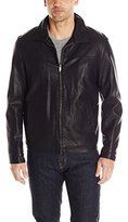 Dockers Faux Leather Lay Down Collar Zip Front Jacket