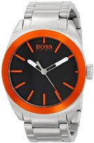 HUGO BOSS BOSS Orange Men's 1512896 Wide Receiver Analog Display Quartz Silver Watch
