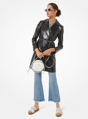Michael Kors Patent Leather Trench Coat