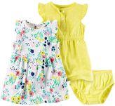 Carter's Baby Girl Polka-Dot Henley & Ruffle Dress Set