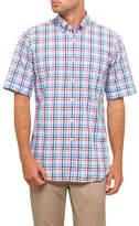 Paul & Shark S/S BD WASHED MULTI CHECK S/S SHIRT