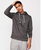Express EXP logo fleece pullover hoodie