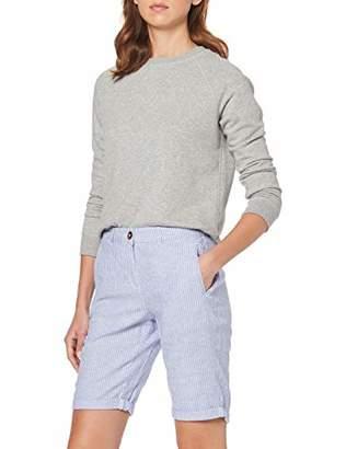 Dorothy Perkins Women's Blue Stripe Linen Knee Shorts, Blue (Blue 50), (Manufacturer Size:)