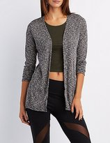 Charlotte Russe Marled Open Front Cardigan