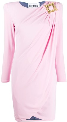 Moschino Wrap-Effect Mini Dress