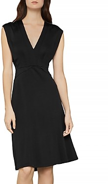 BCBGMAXAZRIA Cap Sleeve A-Line Dress