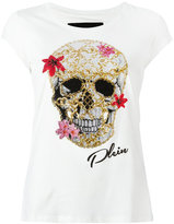 Philipp Plein skull print T-shirt - women - Cotton - L