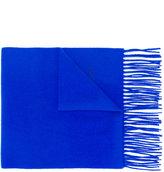 Moschino fringed logo scarf