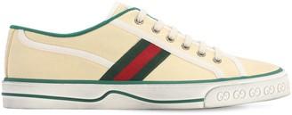 Gucci VINTAGE COTTON TENNIS SNEAKERS