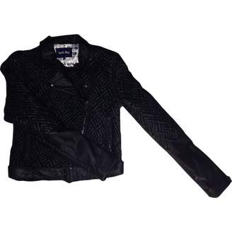 April May Black Leather Jacket for Women