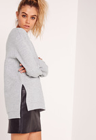 Missguided Plain Sweatshirt Grey