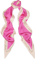 Gucci Printed Silk-twill Scarf - Pink