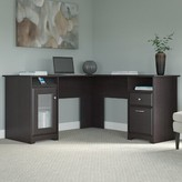 Hillsdale L-Shape Desk Red Barrel Studio Color: Espresso Oak