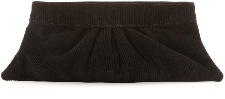 Lauren Merkin Louise Corduroy Suede Clutch Bag, Black