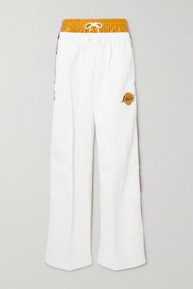 Nike + Ambush Nrg Appliqued Jersey-trimmed Shell Track Pants - White