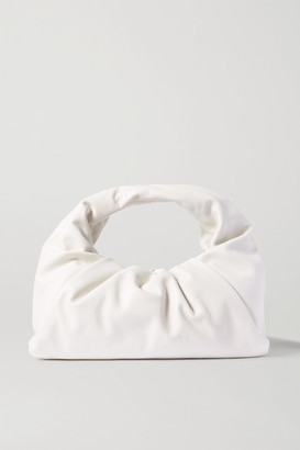 Bottega Veneta The Shoulder Pouch Gathered Leather Bag - White