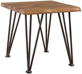 Gdfstudio GDF Studio Gerston Indoor Rustic Iron & Teak Finished Acacia Wood Side