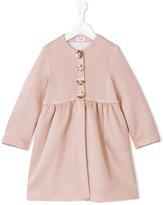 Il Gufo metallic floral button swing coat - kids - Polyamide/Viscose/metal - 4 yrs