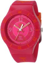 "Juicy Couture Women's 1900823 ""Taylor"" Hot Pink Jelly Strap Watch"
