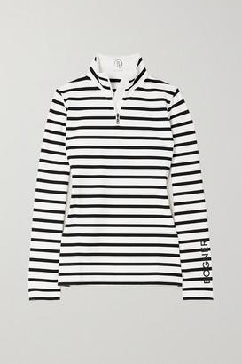 Bogner Beline Striped Stretch-jersey Turtleneck Top - White