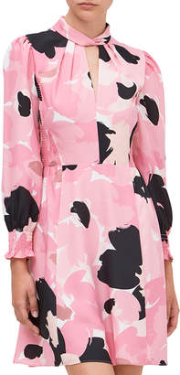 Kate Spade brushed bloom smocked dress