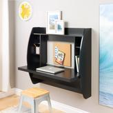 Prepac Floating Storage Desk in Black