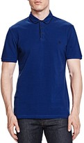 The Kooples Pique Fancy Leather Slim Fit Polo