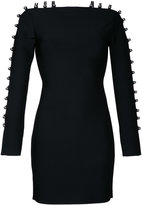 David Koma strappy sleeves mini dress - women - Nylon/Spandex/Elastane/Rayon - S
