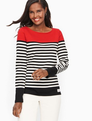 Talbots Authentic Tee - Slope Stripe