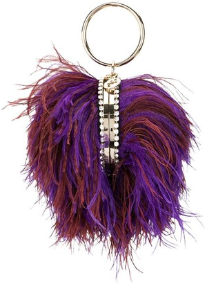 Rosantica Ostrich Feather-Embellished Bag