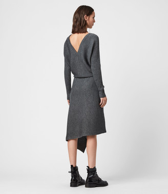 AllSaints Eva Metal Dress