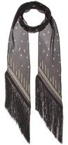 Rockins Fireflies printed silk scarf