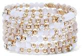 New York & Co. Sparkling Beaded Coil Bracelet