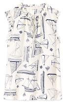 Tory Burch Marie Printed Ruffle Shell